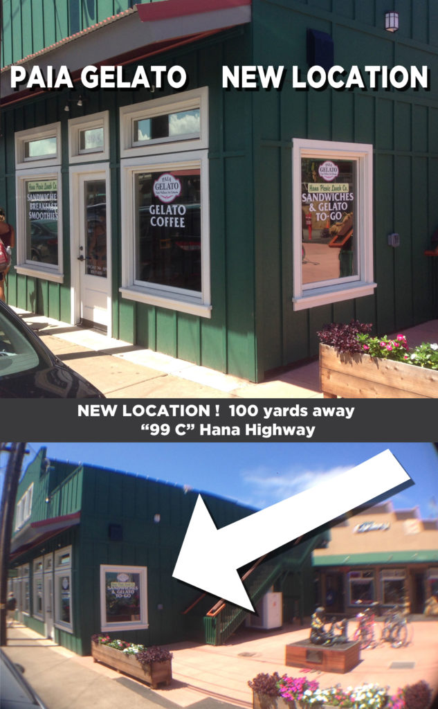 Paia Gelato moved to a New Location